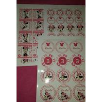 30 Latas Delfina Mis 3 Añitos Minnie Bebe + Stickercandy Bar