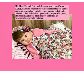 Boneca Reborn Maria Eduarda (só Envio Por Expresso)