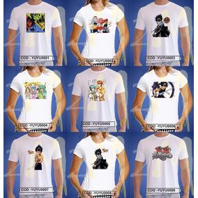 Camisetayu Yu Hakusho Baby Look Camisa Cartas Desenho Anime