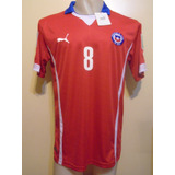 Camiseta Selección Chile Mundial Brasil 2014 Vidal #8 Nueva