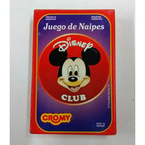 Naipes Cartas Disney Club Cromy 1994 Impecables