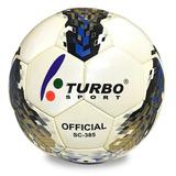 Balón De Fútbol Turbo Sport Sc 385 Tamaño Oficial 5 Cuero. 4e1b5b33e822a