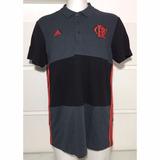 Camisa Polo Original Flamengo adidas 3s Comissão Técnica