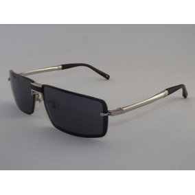 Óculos De Sol Mont Blanc Prata Clássico