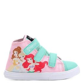 Tênis Infantil Cano Alto Disney Princesas Feminino