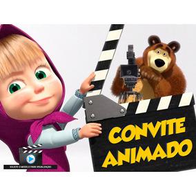 Convite Animado Masha E O Urso