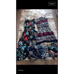 Roupas Femininas Vestido Viscose Estampa Kit Com 5peça