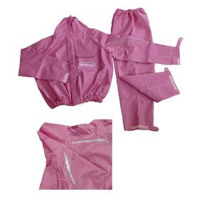 Capa De Chuva Feminina Rosa - 100% Impermeável Piraval G