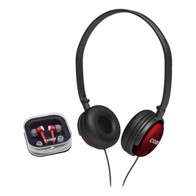 Kit Com 2 Fones De Ouvido (headphone + Earphone) Coby Cv140