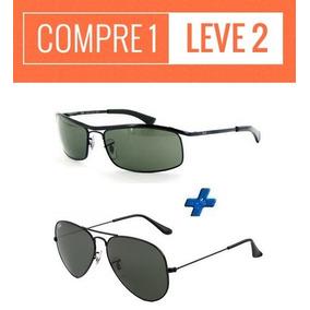 a984abe2519f7 Oculos Sol Ray Ban Demolidor + Aviador   Compre 1 Leve 2