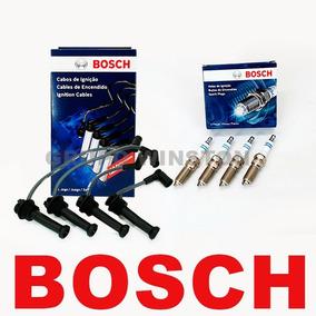 Kit Cabos E Velas Bosch Fiat Uno Evo Fire Vivace 1.0