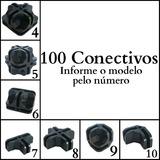 Conectivo Conector Para Balcão De Vidro Ou Aramado 100 Un