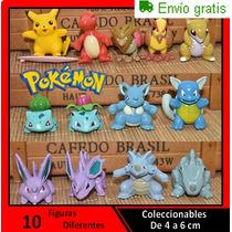 Set De 10 Figuras De Pokemon Coleccionables De 4 A 6 Cm
