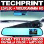 Espejo + Dvr Video Camara Frontal Hd Pantalla Color + Audio