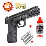 Pistola Co2 Glock 17 Aire Comprimido Full Metal + Blowback