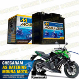 Bateria Moura Moto 10ah Kawasaki Er6-n 650cc