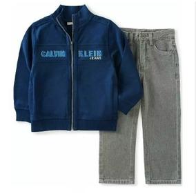 Conjunto Set 2 Pz Calvin Klein Chamarra/pantalón T2 Bebe