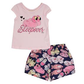 Pijama Quimby Blusa E Short Meia Malha Estampado