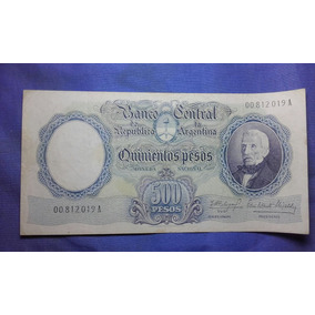 Antiguo Billete De 500 M$n Serie A
