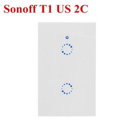 Interruptor Wifi Inteligente Sonoff Touch T1 De 2 Apagadores