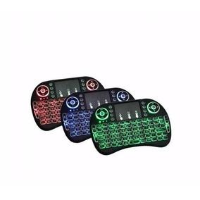 Mini Teclado Iluminado Touchpad Sem Fio Pc Ps3 Xbox Tv Box
