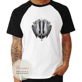 Camiseta Camisa Raglan Geek Gamer League Of Legends Demacia