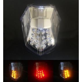 Lanterna Led C/ Pisca Integrado Yamaha Xj 6 Xj6 N/ F Cristal