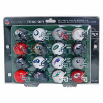 Set De 32 Cascos Nfl Mini Helmet Con 2 Display Afc Y Nfc