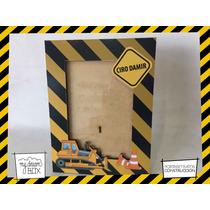 Souvenir Personaliza Madera 8x10cm Portaretrato Construccion