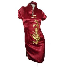 Kimono Corto Vestido Chino Fiesta