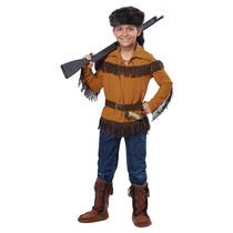 Frontier Boy Davy Crockett Boy Vestuario Color Grande