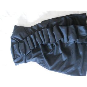 Vestido Usado Strapless Para Fiesta Color Negro