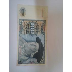 Alemanha Cédula Rara Deutsche 100 Mark De 1970 Mbc