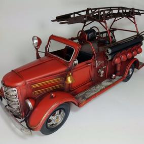 Camion Bomberos Replica En Escala Chapa Decorativo
