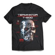 Camiseta Terminator T800 Pelicula Rock Activity