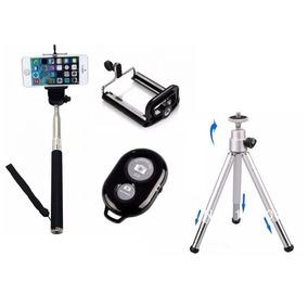 Kit Celular Mini Tripé + Pau Bastão Selfie Bluetooth Sansung