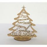 Árvore De Natal Mensageira Brinde Lembrancinha Mdf