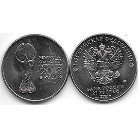 2 Monedas Rusia 25 Rublos Año 2018 Mundial De Futbol