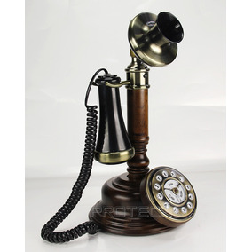 Telefono Candelero Hentak Madera Estilo Retro