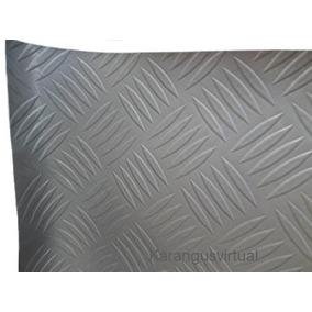 Couro Desenho Imitação Aluminio Chao De Ônibus 1,40m X 70cm