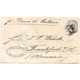 Argentina 1889. Sobre Entero Postal De Bs Aires A Frankfurt