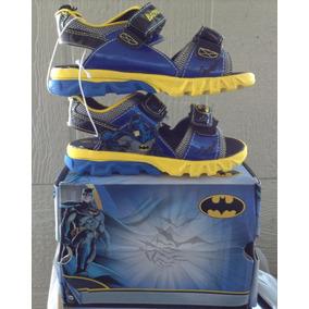 Sandalias De Niño Marca Batman Talla Usa 11 Miden 17 Cms