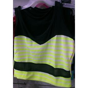 Franelas/blusas Dama Crop Top De Moda
