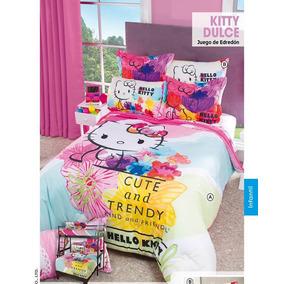 Edredón Hello Kitty Ind Intima Envio Gratis! Nmr Eg