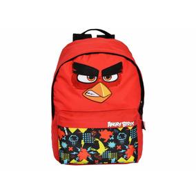Mochila Escolar Teen Vermelha Angry Birds Santino Descolada