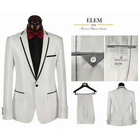 Terno Ejecutivo Blanco Combinado Fit Slim