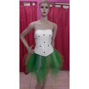 Vestido De 15 Nuevo Hecho Corto Blanco Verde Y Negro