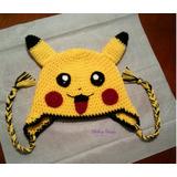 Gorros De Pikachu Tejida A Crochet Y Otros Personajes