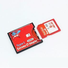 Adaptador Cartão Memória Compactflash Cf Para Sd Tipo 1