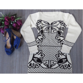 Compre 3 Leve 4vestido Feminino De Tricot De Lã Manga Longa